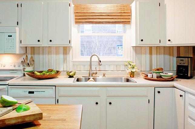 neutral striped kitchen wallpaper ideas