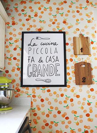 orange kitchen wallpaper ideas