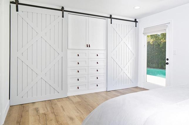 Sliding bedroom storage ideas