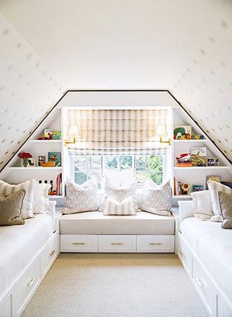 Window bench bedroom storage ideas