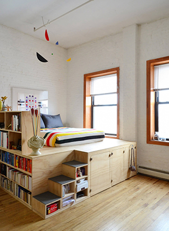 Loft bed bedroom storage ideas