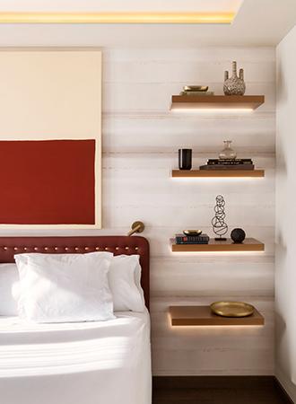 floating shelves bedroom storage ideas