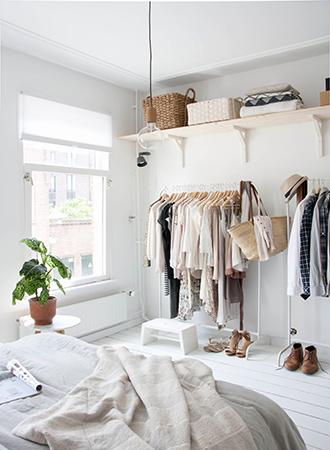 Clothing bedroom storage ideas