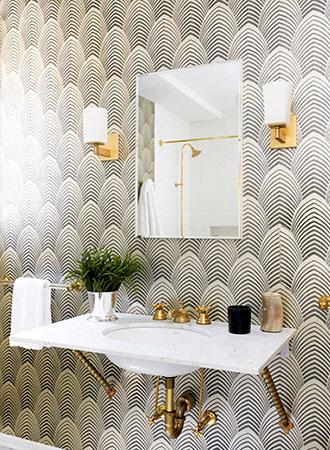 Art Deco Bathroom Wallpaper Ideas