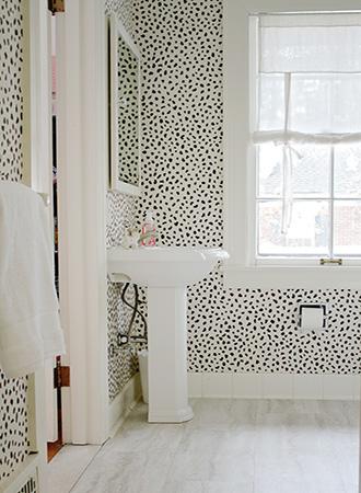 Painterly Bathroom Wallpaper Ideas