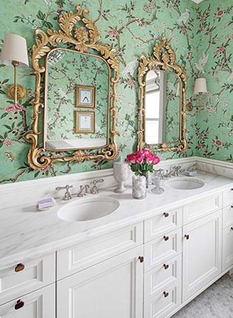 Floral Bathroom Wallpaper Ideas