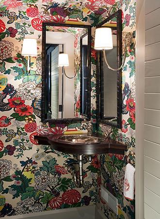 jungle print bathroom wallpaper ideas