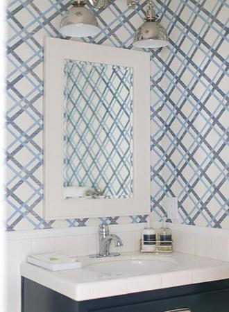 striped bathroom wallpaper ideas