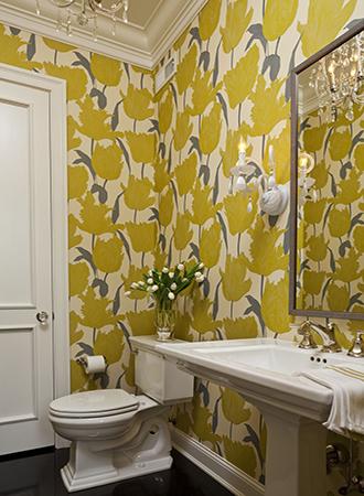 large floral bathroom wallpaper ideas