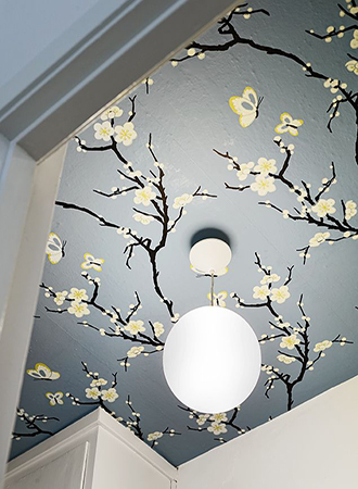 ceiling bathroom wallpaper ideas