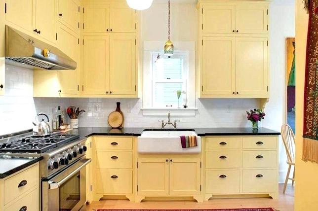 yellow retro kitchen