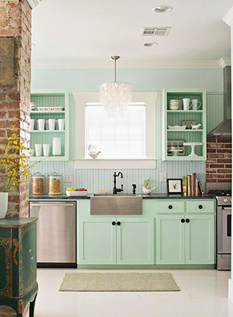 Mint retro kitchen