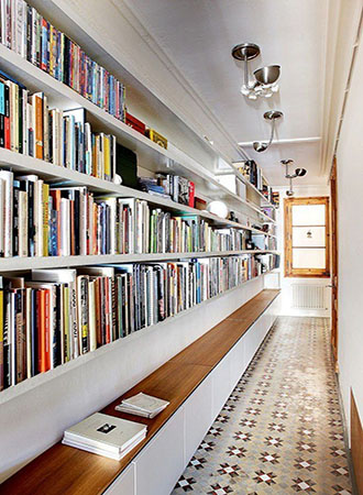 best home library ideas hallway