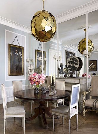 Mirrored dining room walls decorate ideas