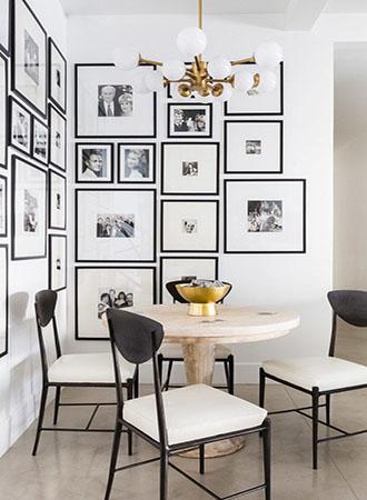 Art gallery dining room walls decor ideas