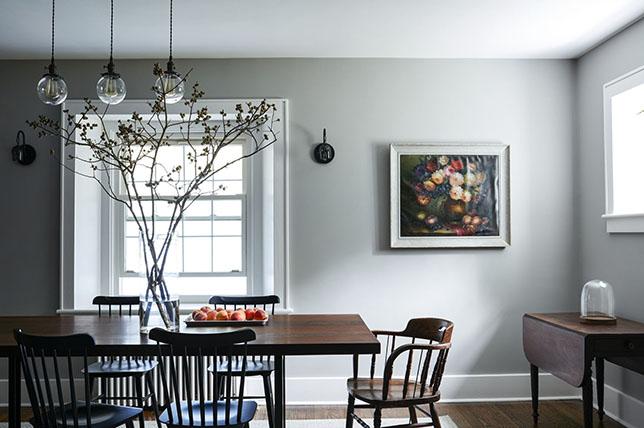 gray dining room walls decoration ideas