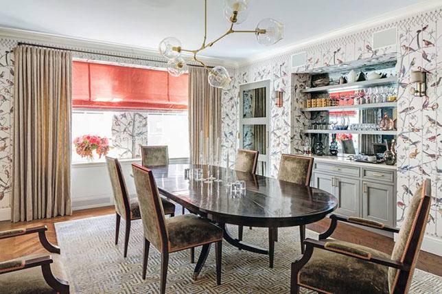 built in shelves dining room walls decor ideas