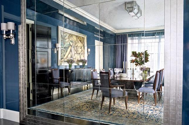 dark elegant dining room walls decor ideas