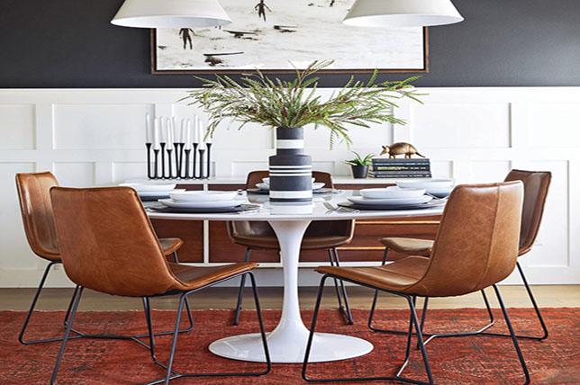 Contrast dining room wall ideas