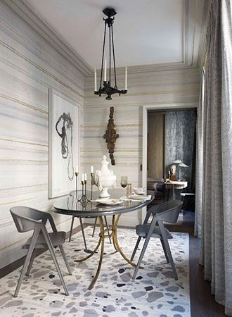 striped dining room walls decor ideas
