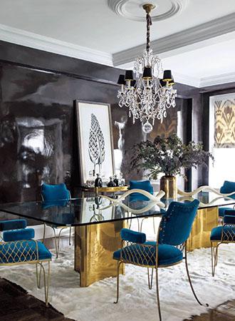 Art filled dining room walls decor ideas