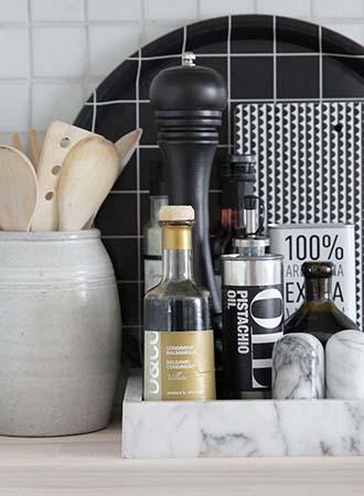 Tray storage kitchen decor and organization tips