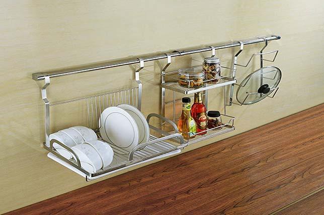 Dish rack, kitchen decor and organization tips