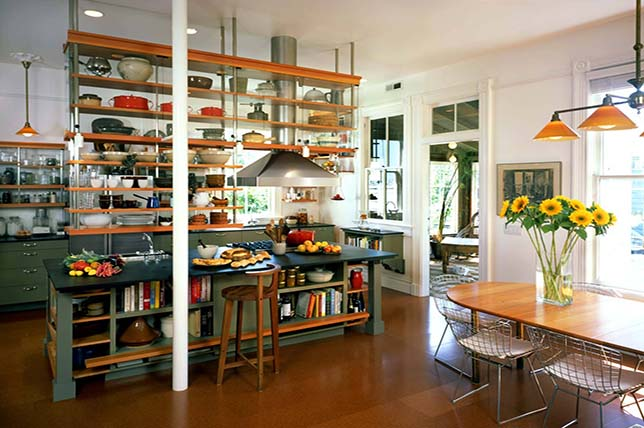 Kitchen island with shelves kitchen decor and organization tips