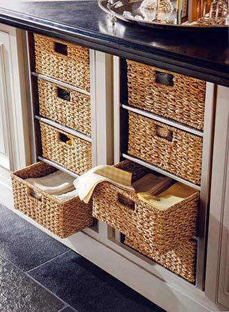 Basket storage kitchen decor and organization tips