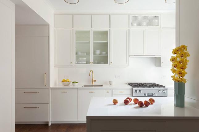 Galley kitchen ideas glass cabinets