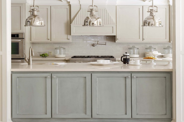 Galley kitchen ideas contrasting cabinets