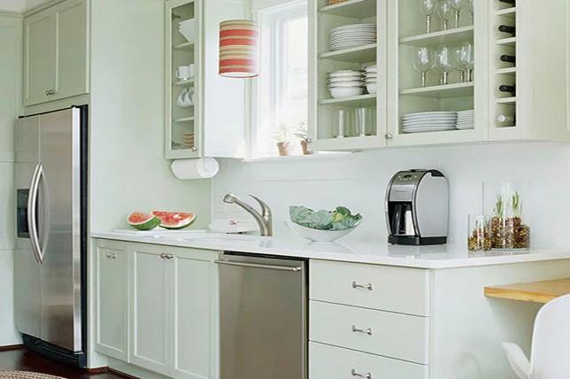 Light color scheme galley kitchen ideas
