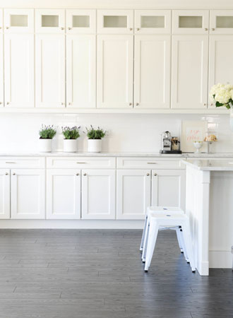 Galley kitchen ideas tall cabinets