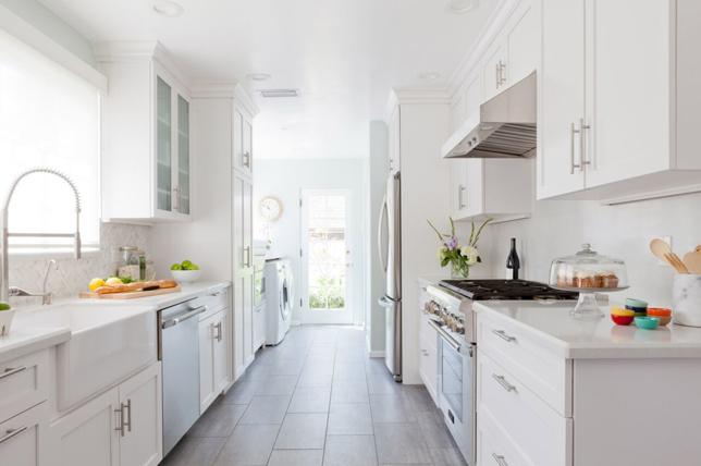 Galley kitchen ideas sink placement