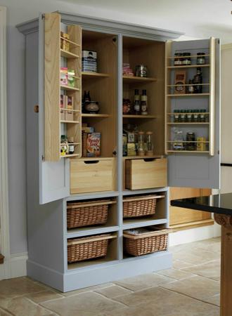 Galley kitchen ideas basket storage