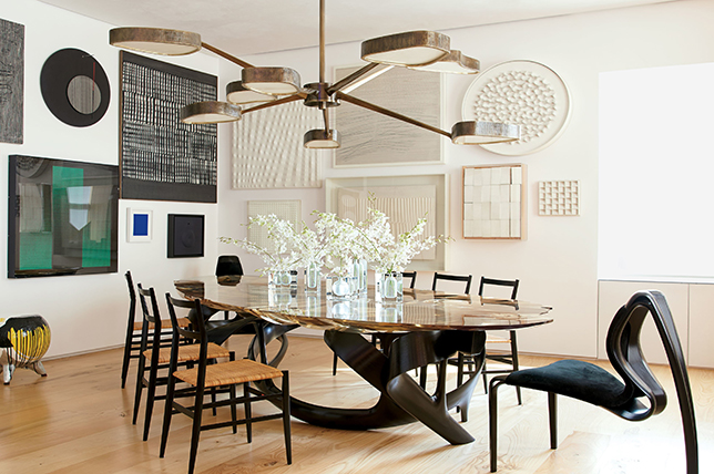 Dining room mismatched furniture placement ideas