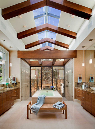 Exposed vaulted ceiling ideas