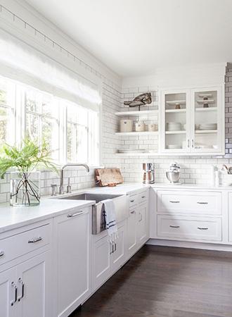 all white modern farmhouse kitchen ideas