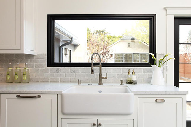 modern farmhouse kitchen ideas windows