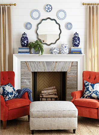 Living room wall decoration ideas hanging plate