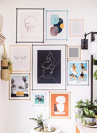 Living room wall decoration ideas washi tape
