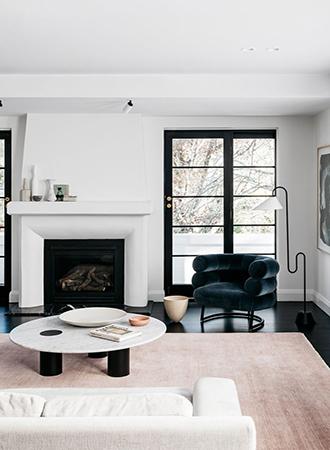 Velvet living room interior design 2019