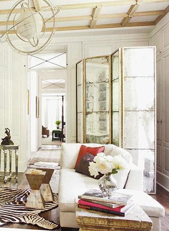 Living room interior design 2019 mirror