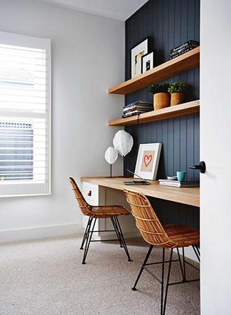 rustic wood mix office furniture ideas
