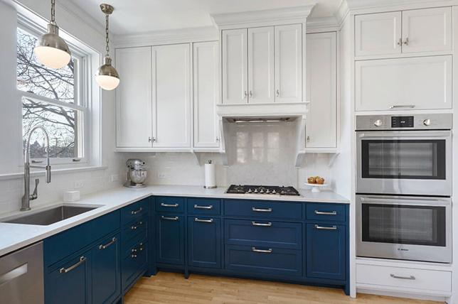 blue and white modern kitchen ideas