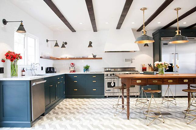modern kitchen ideas wall shelves