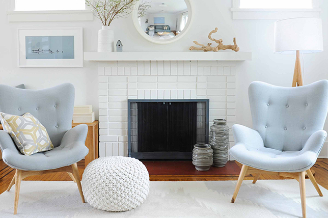 painted brick fireplace design ideas