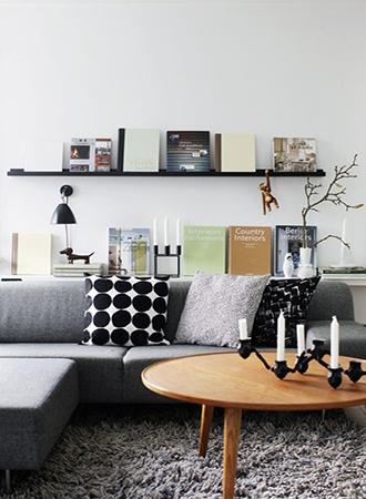 dark basement ideas shelves