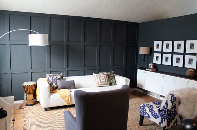 Navy blue living room colors