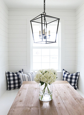 Gingham Banquet Country Kitchen Ideas